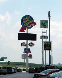 Signage For Iowa 80, The World's Largest Truck Stop. It Is Located ...