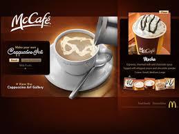 McCafe Cappuccino Art