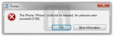 How to Fix Error 3194 When Restoring Stock or Custom Firmware