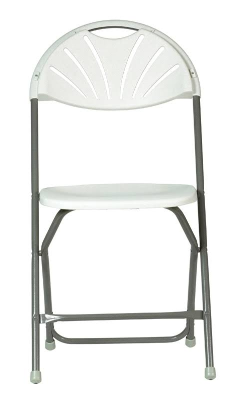 Living Accents Folding Chair - White