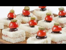 what does canape prosciutto canapés with cornichon skewer