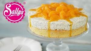 quarksahne torte mit mohn und mandarinen sallys welt