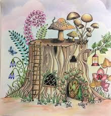 Tree Stumps Trunks Johanna Basford Secret Garden Coloring Books Enchanted Forest