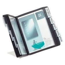 pochette bureau support de bureau a5 vario 10 nb de pochettes 10 noir