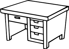 bureau a dessin coloriage bureau écolier à imprimer