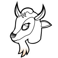 Pin Mountain Goat Clipart Face 2