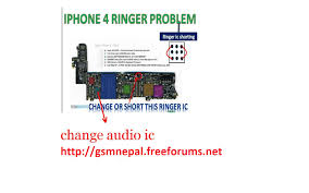 Iphone4 ringer ic jumper done