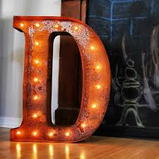 Vintage Letter Lights Brides Little Helper