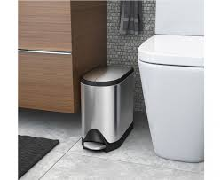 Trash Cans Bed Bath Beyond by Simplehuman 10 Litre Butterfly Pedal Bin Fingerprint Proof