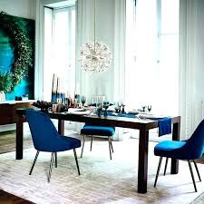 Blue Dining Chairs Room Table Modern Mid Century Upholstered Chair