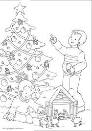 Christmas Tree Coloring Pages Printable by Christmas Tree Coloring Pages