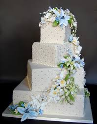 Square Rustic Wedding Cakes