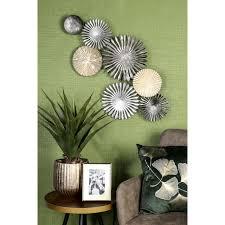 casablanca by gilde wanddekoobjekt wandrelief rustic wanddeko aus metall bestehend aus 7 runden elementen wohnzimmer