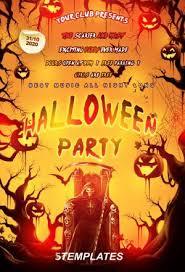 Free Halloween Flyer Templates by Free Halloween Psd Flyers Flyershitter Com