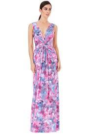 deep v knotted front printed maxi dress ceriseprint deep v