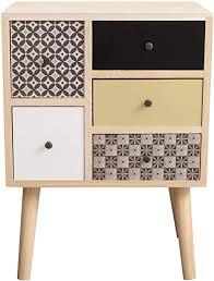 mobili kommode mit 5 schubladen sckrank in braun grau beige schwarz paulownienholz mdf im modernen stil schlafzimmer badezimmer maße 60