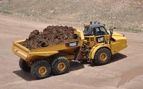 100 Articulated Trucks Caterpillar Cat Flagship Cat 745C ADT Drops Weight Adds Capacity
