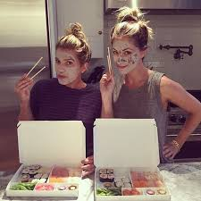 We Are Eating Just In Case Get Hungry Later Sushi Facial