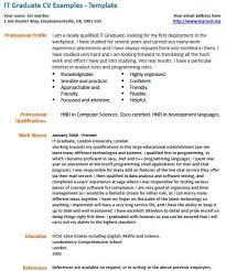 IT Graduate Cv Example