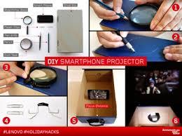 Holiday Hacks DIY Smartphone Projector