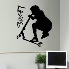 2018 heißer verkauf große trick roller personalisierte vinyl wand aufkleber schlafzimmer wohnzimmer schlafzimmer wohnkultur wohnkultur kunst diy
