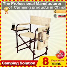 Professional Tall Folding Directors Chair by Folding Aluminium Director Chair With Side Table Folding