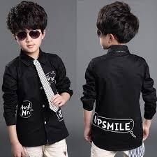 Toddlers Black Dress Shirt
