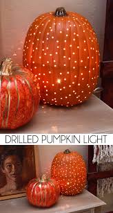 Pumpkin Carving With Drill by Drilled Pumpkin Light Pumpkin Lights Fall Decor And Traditional