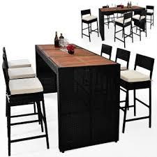 ensemble table chaises ensemble table chaise bar polyrotin bois acacia salon de jardin
