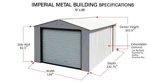 duramax 12x20 metal garage storage sheds direct