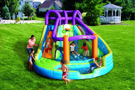 Image Of Inflatable Pool Slides