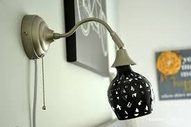 DIY Lampshade For Ikeas Arstid Wall Lamp