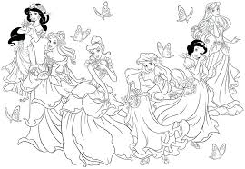 Disney Princess Christmas Coloring Pages Printable For Girls And Menu Page Inside