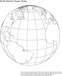 North Atlantic Globe map royalty free when mapping the route of