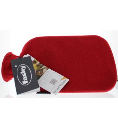 Fashy Hot Water Bottle Fleece Cover. Red