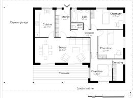 plan maison plain pied gratuit 3 chambres beau plan de maison 4 chambres gratuit 1 plan au sol plan de