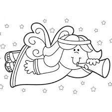 Christmas Angel Coloring Page Free PagesFree Printable