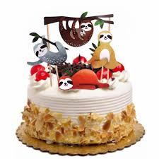 4pcs süße kreative faultier kuchen einfü karte kuchen dekor für geburtstag günstig im onlineshop joom kaufen