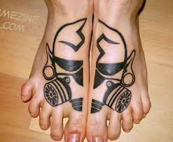 Cool Matching Foot Tattoos For Men