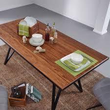sheesham esszimmer tisch mit designgestell civetta