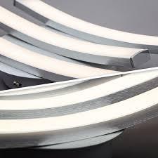 b k licht led deckenleuchte led board warmweiß led design deckenle wohnzimmer modern aluoptik inkl 6w