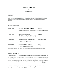 Sample Resume Objective Statement Tive Example For Warehouse Of On A Samples Resumes Tives