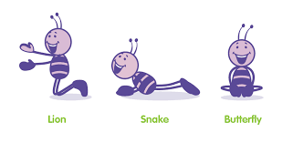Lion Snake And Butterfly Yoga Games You Can Do With The Kids