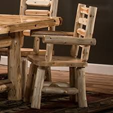 cedar log dining tables for rustic dining rooms