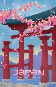 Japan Travel Poster By Gunboundmasta