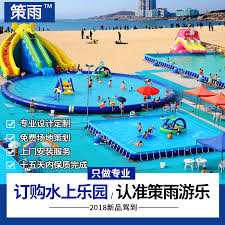 Outdoor Large Water Park Equipment Manufacturers Inflatable Pool Slide Combination Mobile Bracket Spot