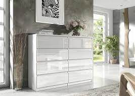 linz kommode sideboard mit 8 schubladen hochglanz weiß 140 cm esa home
