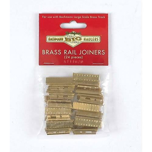 Bachmann Brass Rail Joiners 24/Bag G 94657