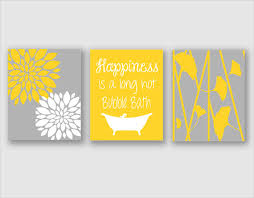 modern bath art modern floral flower artwork set of 3 trio