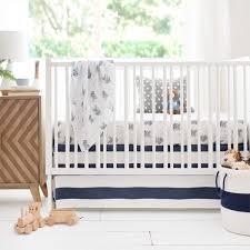 Navy and Gray Arrow Baby Bedding Navy Crib Bedding
